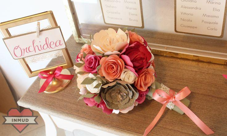 Bouquet in carta realizzato a mano