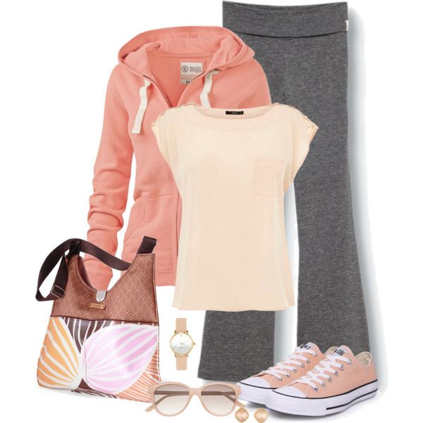 "Sporty weekend look. Love everything but the purse. Gotta get something like this for those ""Blah"" days"