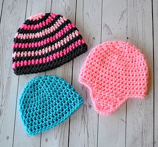 """Everyone needs one reliable pattern to make a hat with or without ear flaps. Once you have this then the opportunities are endless with what you can make. I am now offering my """"go to"""" pattern for free. The basic hat pattern includes sizes from newborn up to adult."""