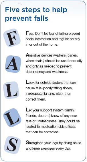 Avoid slips on ice this winter - 5 steps to help prevent falls.