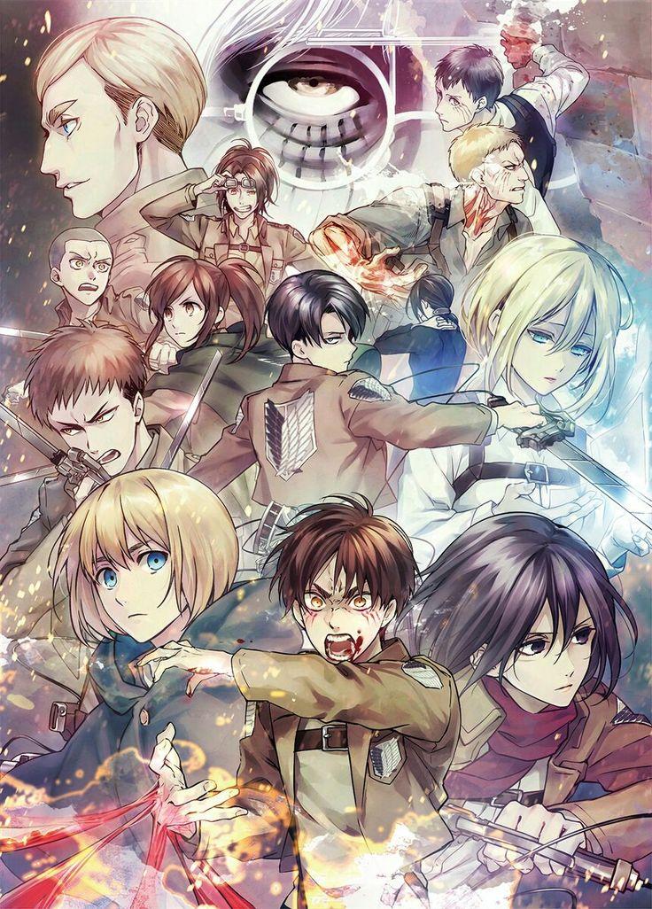 Eren | Armin | Mikasa | Levi | Jean | Connie | Sasha | Krista (Historia) | Ymir | Hanji | Erwi | Reiner | Bertholdt | Zeke | Shingeki no Kyojin | Attack on titan | SNK