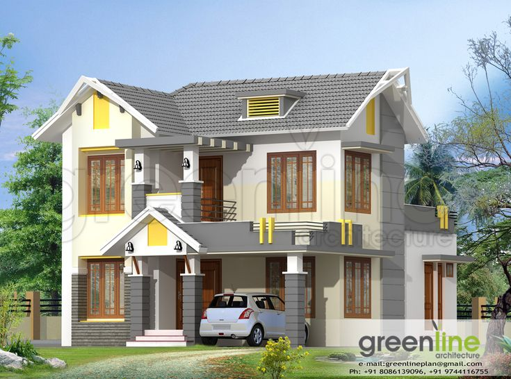 29 best one of my proposed house design images on for Dream home kerala