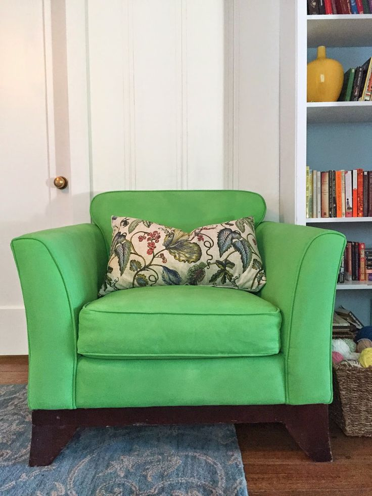 Chair Upholstery Fabric Painted With Chalk Paint® In Antibes Green And  Clear Chalk Paint®