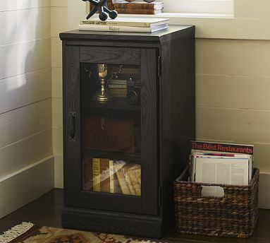 Printer's Glass Door Cabinet #potterybarn