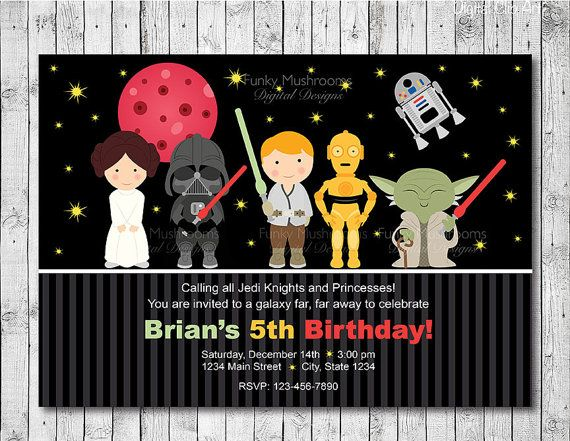 Star Wars Digital Birthday Invitation Card  by funkymushrooms, €9.20