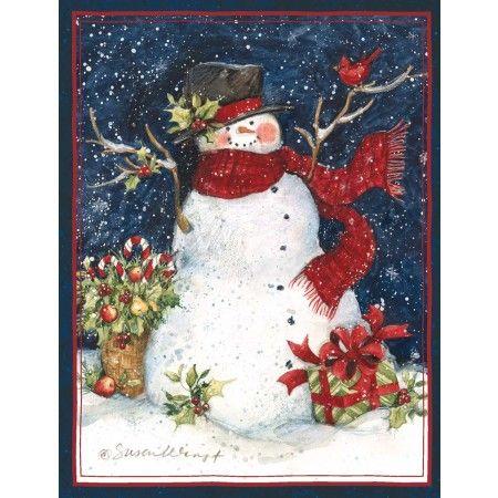 lang cards | Snowman Scarf Christmas Cards , 1004689 | Lang