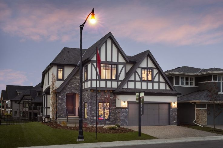 The BERKSHIRE by Crystal Creek Homes in the Estate Front Drive Collection. www.cooperscrossing.ca