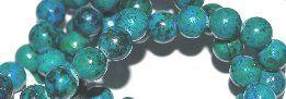 Krysokolla med turkos pärlor 8mm, styckpris