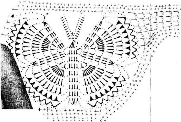 Трусики-бабочка крючком СХЕМА: