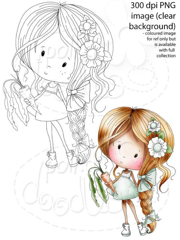 Winnie Sugar Sprinkles Springtime - This is no time to diet! - Printable Crafting Digital Stamp Craft Scrapbooking Download - Polkadoodles Ltd