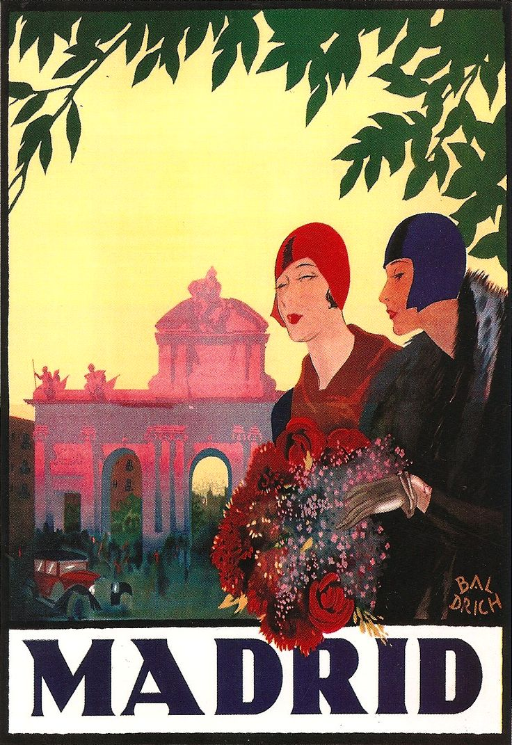 Madrid travel ad, 1927