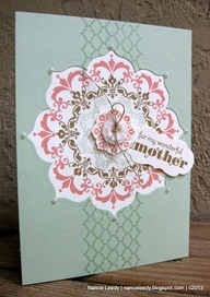 stampin up daydream medallion   ... Daydream Medallions cut with Floral Framelits ... sweet! ... Stampin