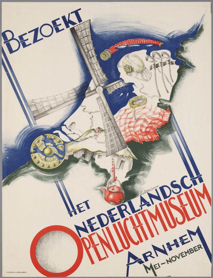 affiche van het Nederlands Openluchtmuseum 1937