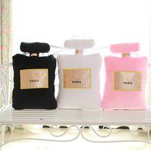 hete nieuwe parfumflesje vorm pluche kussens korte vezels vullingen huisdecoratie autostoel bank bank kussen beddengoed ch25 kanaal(China (Mainland))