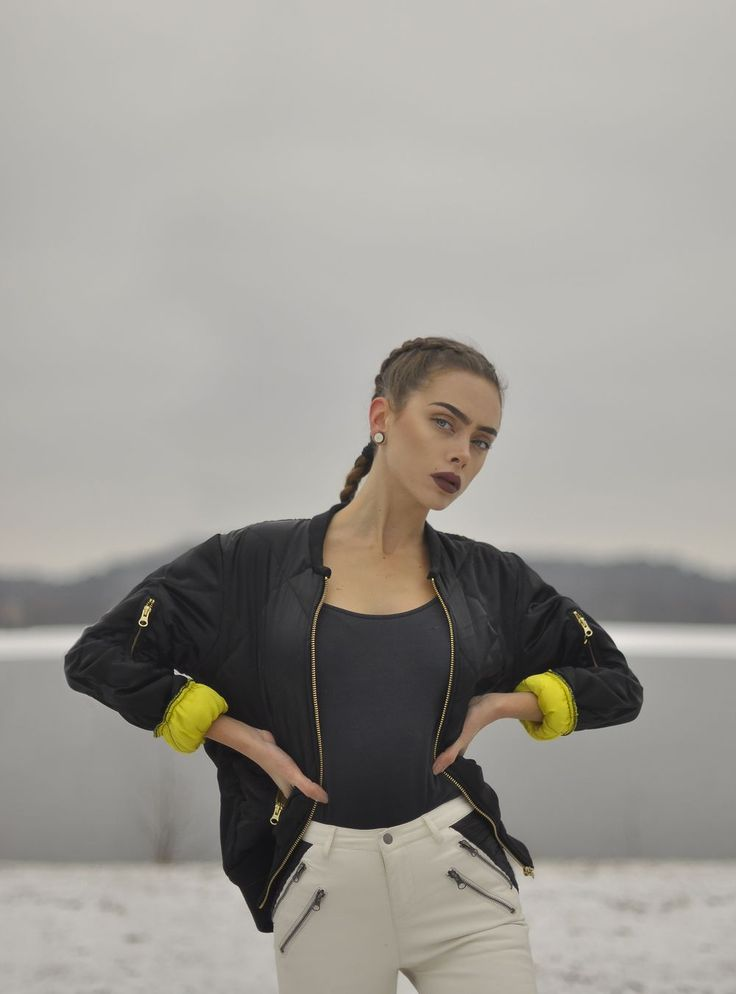 Johanna Herrstedt in our Bomber Coco