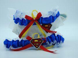 Superman themed garter set.