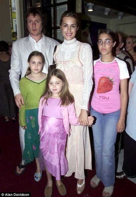 Simon and Yasmin Le bon with family