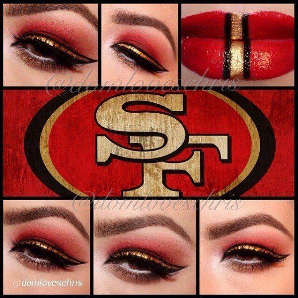 San Francisco 49ers Makeup by domloveschris