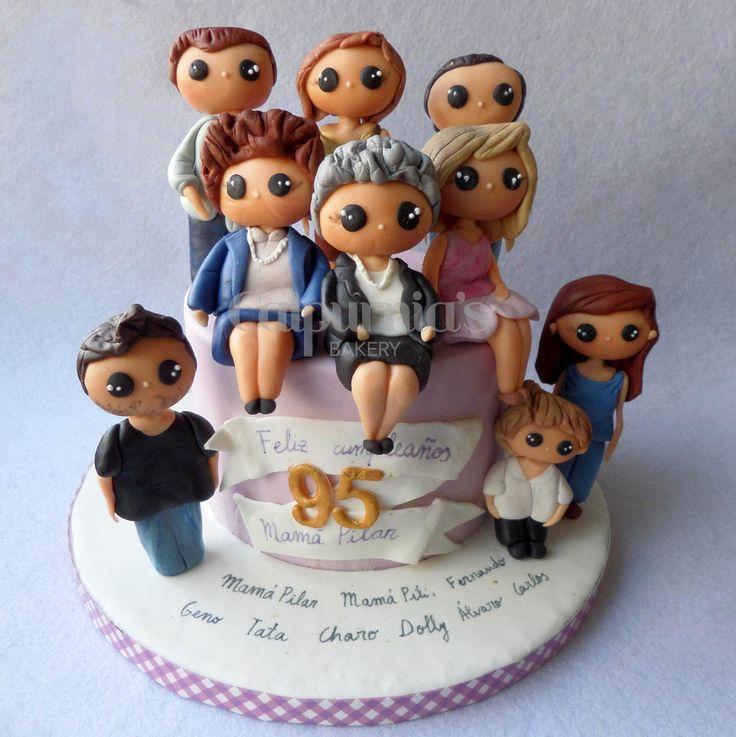 Family cake fondant
