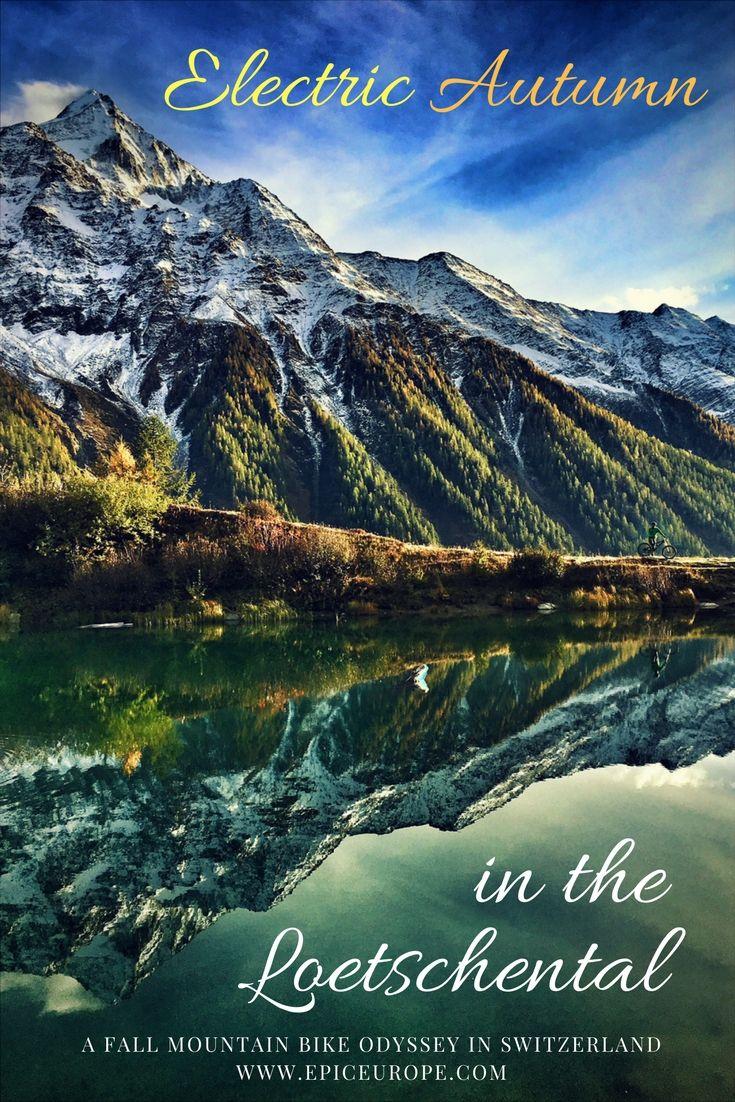 An epic mountain bike tour through secret Swiss valleys, authentic villages and electric fall foliage #fall#mountainbike#mountain