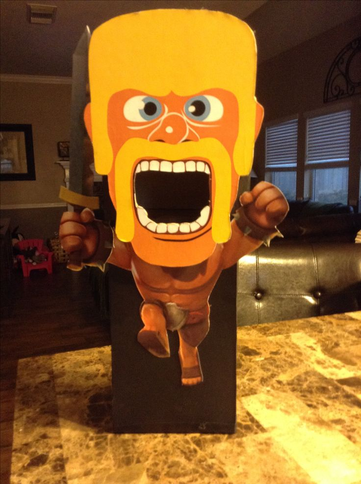 """""""Clash of Clans""""barbarian Valentines box"""