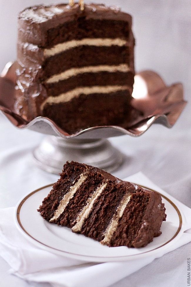 Devil's Food Cake with Salted Caramel Frosting