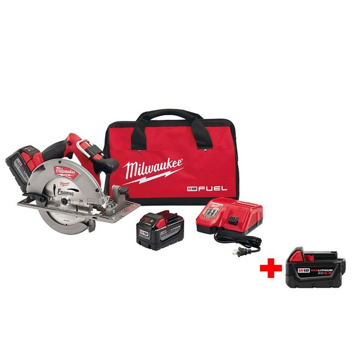 Milwaukee M18 Fuel 18-Volt Lithium-Ion Brushless 7-1/4 in. Cordless Circular Saw High Demand 9.0Ah Kit Free M18 5.0 Ah Battery