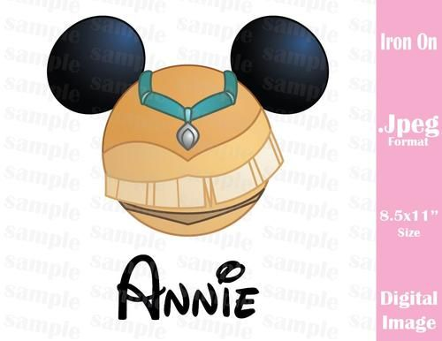 Personalized Disney Inspired Princess Pocahontas Mickey Ears Family Vacation Jpeg Format for Iron On