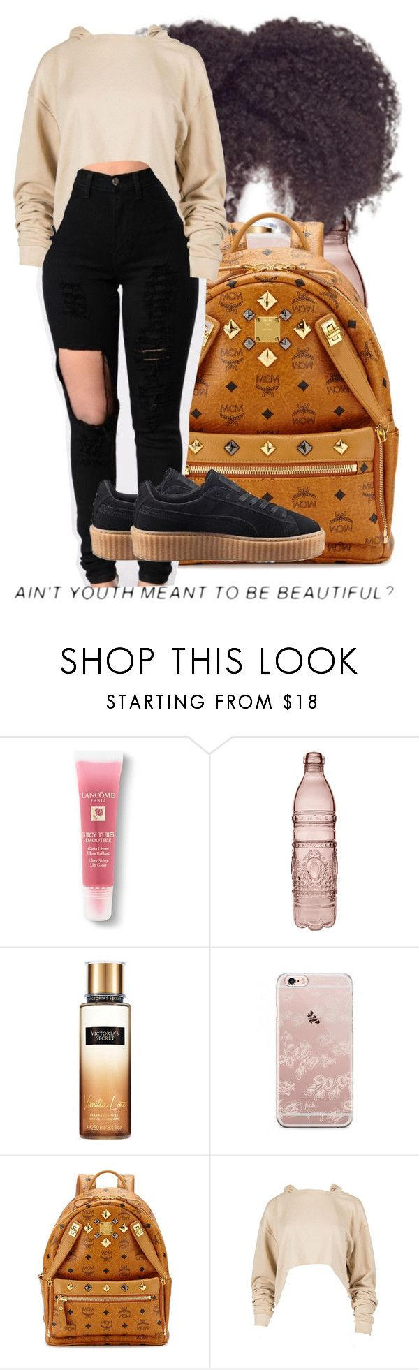 """""""ain't it?"""" by th3-qu33n-25 ❤ liked on Polyvore featuring Lancôme, Baci, Victoria's Secret, MCM and Puma"""