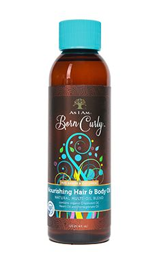 As I Am Born Curly For Babies & Children Nourishing Hair & Body Oil 4 fl oz