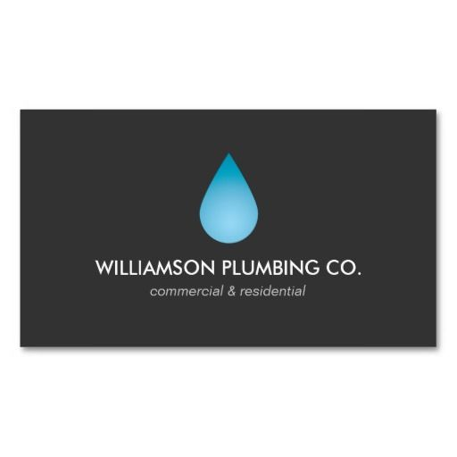 water drop plumbing plumbers business card business cards card templates and business. Black Bedroom Furniture Sets. Home Design Ideas