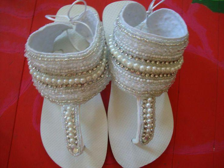 sandalias havaianas bordadas