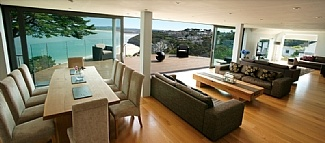 Living Room With Panaramic View in Cornwall