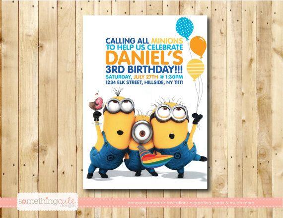 Secuaz cumpleaños invitación por somethingcutedesigns en Etsy, $13.00