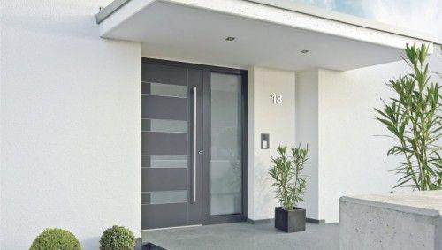 Moderna puerta exterior de aluminio