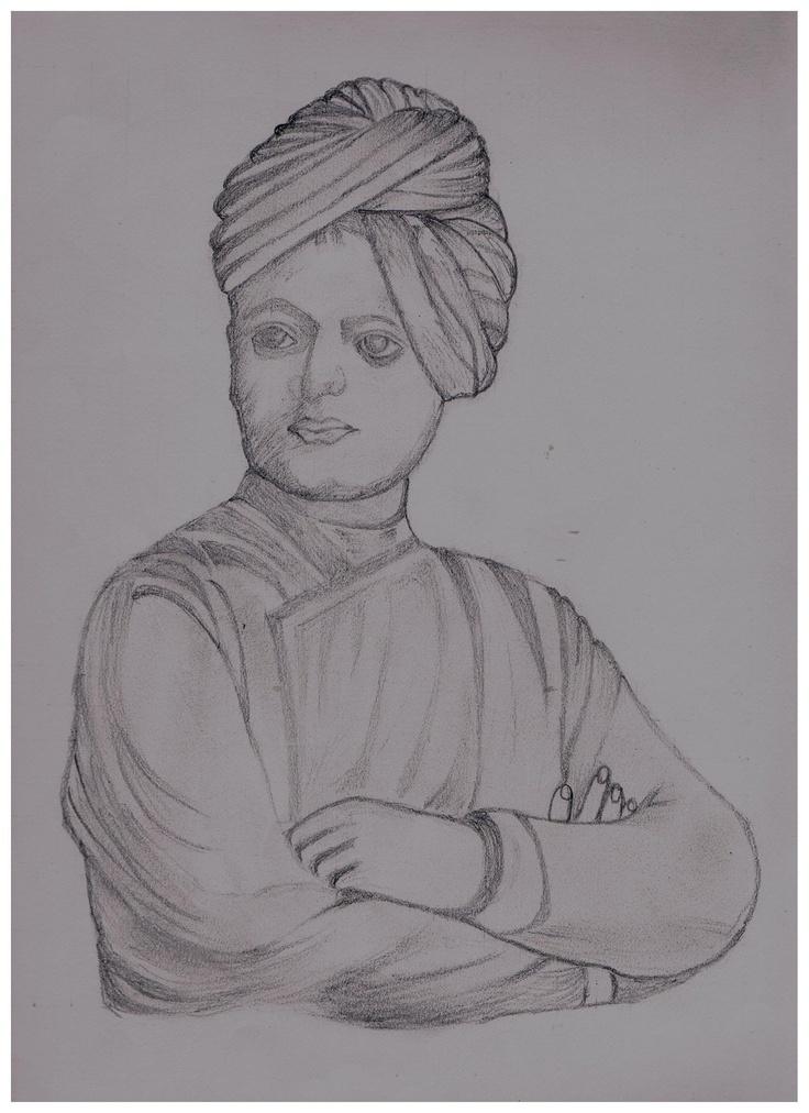 swami vivekanand | drawing | Pinterest