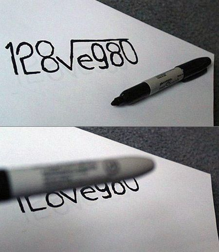 This is a really cool and cute idea for a card or just in a price of paper to tell someone you love them :0)