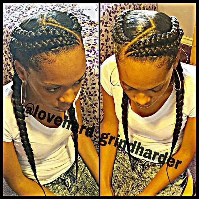 4 tight ghana braids