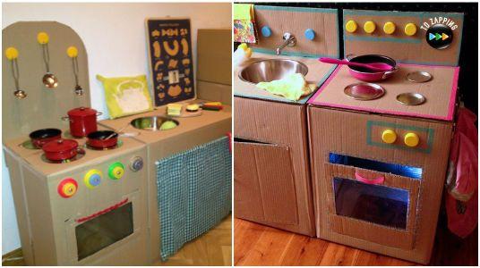 Galeria de fotos 14 cozinhas de papel o para as crian as brincarem ideas para and ideas - Imagenes de muebles de carton ...