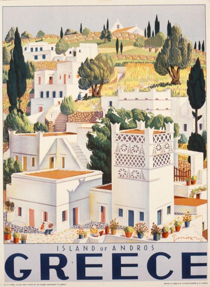 Vintage Travel Poster - Greece 1949