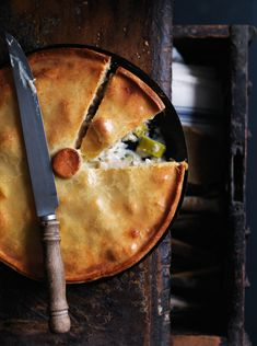 chicken and leek pie.. Load it up with diced carrot, zucchini and parsnip and you've got a winner! Delish