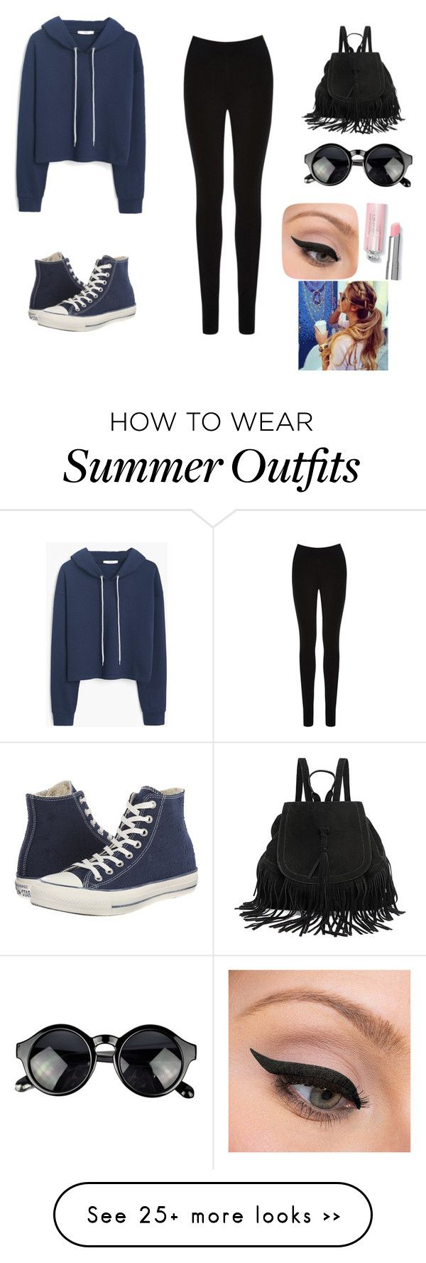 """""""Casual day outfit"""" by fiza-1 on Polyvore featuring moda, MANGO, Oasis, Converse y LORAC"""