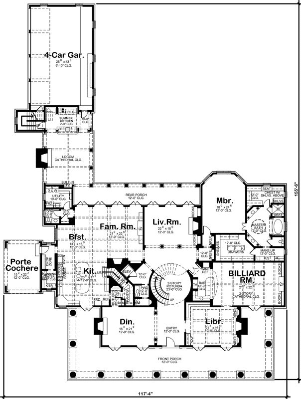Luxury Style House Plans   9360 Square Foot Home  2 Story  6 Bedroom and. 292 best House Plans   Exteriors images on Pinterest