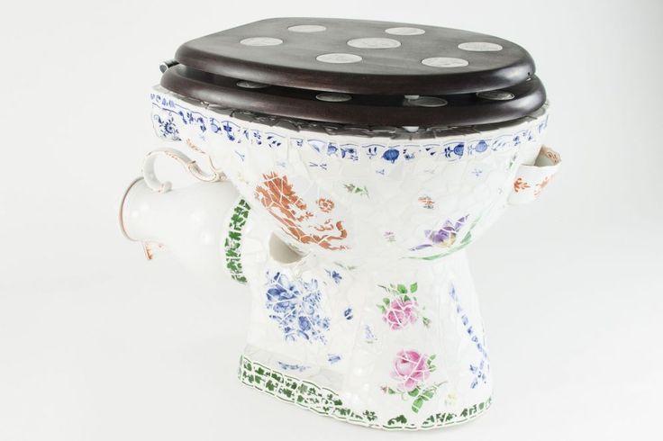 Toilettenbecken Meißner Porzellan Stücke Toilettenbecken in Standardgröße moderner Sanitärausst