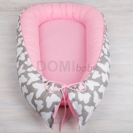 Oblíbená růžová hnízdečka pro miminka skladem  Kompletní nabídka na www.domibaby.cz #hnizdopromiminko #hnizdeckopromiminko #pelisekpromiminko