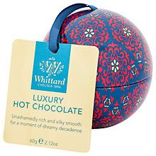 Buy Whittard Luxury Hot Chocolate Bauble, 60g Online at johnlewis.com