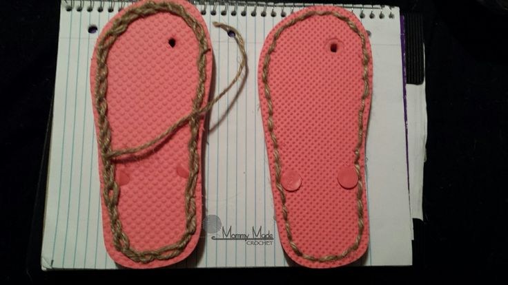 This is just a quick tutorial on how to prepare a cheap pair of flip flops to receive your crochet. Materials *I hook *Cotton Yarn-...