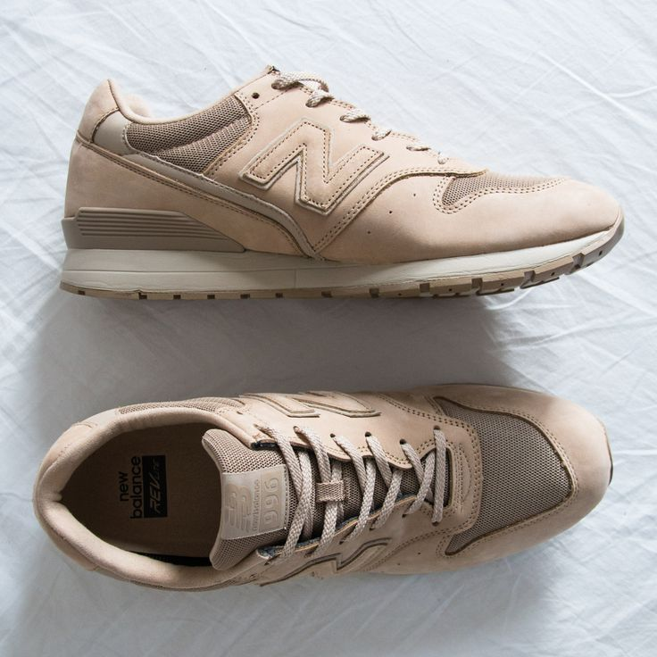 new balance 996 khaki suede trainers