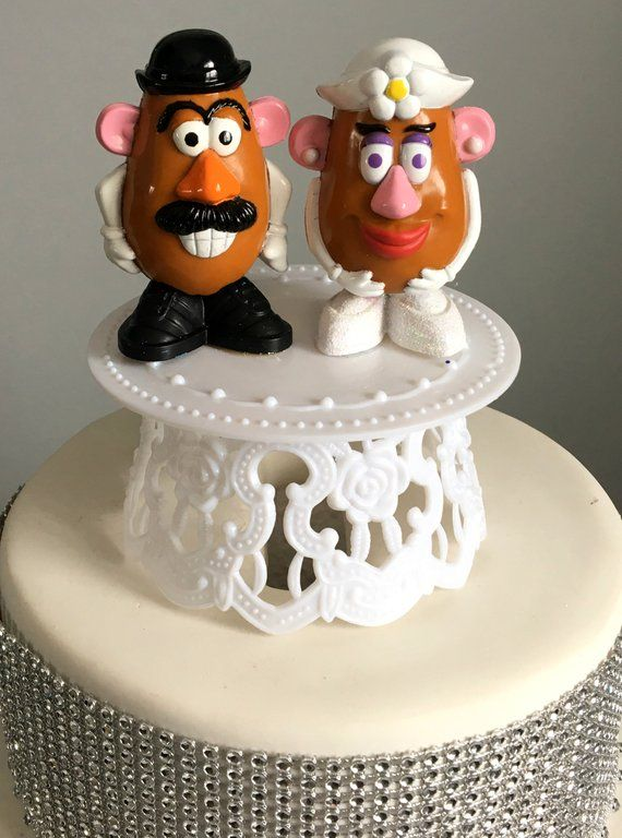 Mr Mrs Potato Head Wedding Cake Topper Toy Story Characters