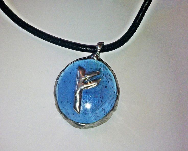 by SHINE. WISIOR z RUNĄ FEHU - Amulet Bogactwo w  Biżuteria ze Szczyptą  Magii * by SHINE na DaWanda.com